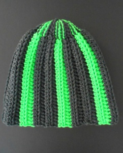 Filatura di Crosa Zara 14 Hat Trix Crocheted Striped Hat Kit - Hats and Gloves