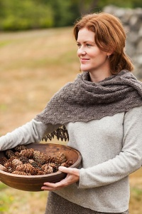 Isager Spinni Wool 1 Fir Cone Lace Shawl or Scarf Kit - Scarf and Shawls