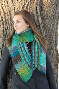 Classic Elite Liberty Wool Print Two Direction Scarf Kit - Scarf and Shawls