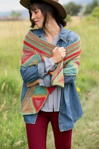 Plymouth Gina Ojo De Dios Shawl Kit - Scarf and Shawls