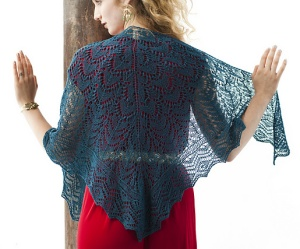 Classic Elite Silky Alpaca Lace Turquoise Lace Shawl Kit - Scarf and Shawls