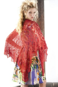 Zealana Air Red Lace Shawl Kit - Scarf and Shawls