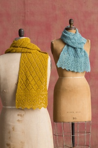 Classic Elite Liberty Wool Light or Alpaca Sox Madame X Scarf Kit - Scarf and Shawls