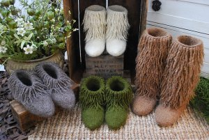 Brown Sheep Lamb's Pride Bulky Moonkoosa Boots Kit - Felting