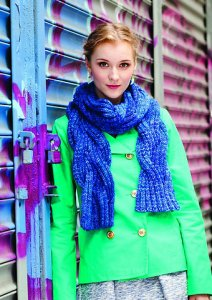 Malabrigo Mecha Crosby Cabled Scarf Kit - Scarf and Shawls