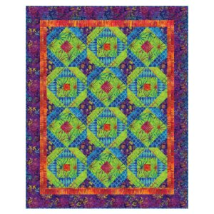 Michael Miller Fabrics Batiks Exploding Color Quilt Kit - Home Accessories