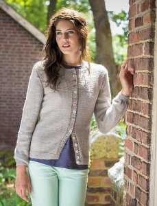 The Fibre Company Road to China Light Hawthorn Cardigan Kit - Women's Cardigans