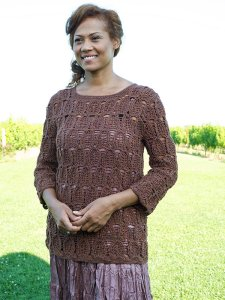 Berroco Ultra Alpaca Fine Innsbrook Pullover Kit - Crochet for Adults