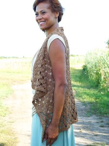 Berroco Captiva Berne Crocheted Vest Kit - Crochet for Adults