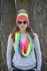Schachenmayr original Boston Neon Jungle Cowl Kit - Scarf and Shawls