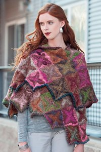 Noro Silk Garden Shuriken Shawl Kit - Crochet for Adults