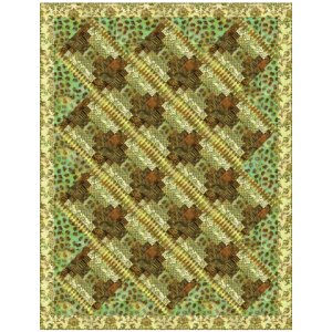 Michael Miller Fabrics Batiks Steps in the Forest Quilt Kit - Home Accessories