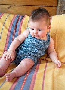 Berroco Modern Cotton Squill Baby Romper Kit - Baby and Kids Pullovers