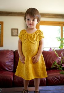 Berroco Modern Cotton Bilberry Dress Kit - Baby and Kids Pullovers