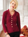 Swans Island Natural Colors Fingering Peplum Jacket