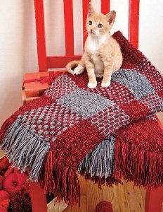 Madelinetosh Merino DK Gingham Afghan Kit - Crochet for Home