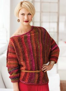 Noro Silk Garden Asymmetrical Sweater Kit - Crochet for Adults