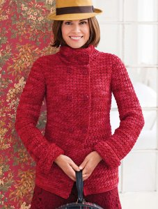 Malabrigo Merino Worsted Textured Jacket Kit - Crochet for Adults
