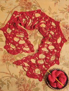 Artyarns Beaded Silk Light Flower Lace Scarf Kit - Crochet for Adults