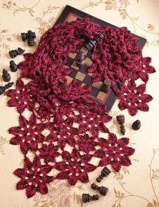 Madelinetosh Tosh Merino Light Floral Motif Wrap Kit - Crochet for Adults