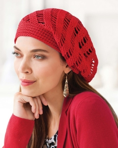 Tahki Cotton Classic Lite Vortex Slouchy Hat Kit - Crochet for Adults