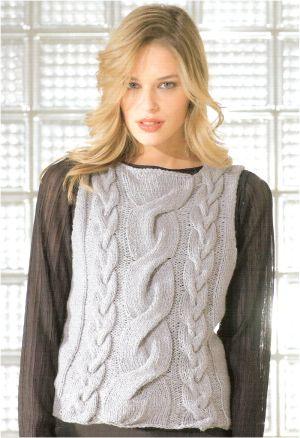 Lang Yarns Zoom Cabled Vest Kit - Vests