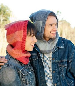 Cascade 220 Heathers Family Hood Kit - Hats and Gloves