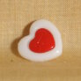 Muench Plastic Buttons - Love - White (15mm)