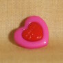 Muench Plastic Buttons - Love - Dark Pink (15mm)