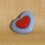 Muench Plastic Buttons - Love - Periwinkle (15mm)