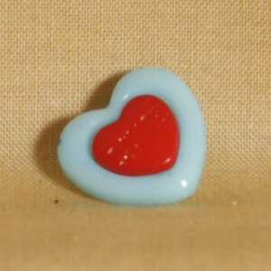 Muench Plastic Buttons - Love - Baby Blue (15mm)