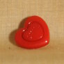 Muench Plastic Buttons - Love - Red (15mm)