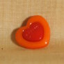 Muench Plastic Buttons - Love - Orange (15mm)