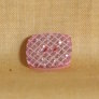 Muench Plastic Buttons - Glitter Square - Pink (13mm)