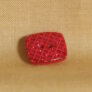 Muench Plastic Buttons - Glitter Square - Red (13mm)