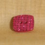 Muench Plastic Buttons - Glitter Square - Dark Pink (13mm)