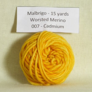 Malabrigo Worsted Merino Samples Yarn - 007 Cadmium