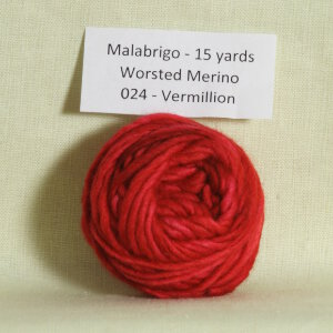 Malabrigo Worsted Merino Samples Yarn - 024 Vermillion