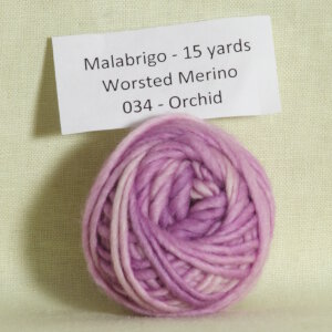 Malabrigo Worsted Merino Samples Yarn - 034 Orchid
