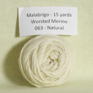 Malabrigo Worsted Merino Samples Yarn - 063 Natural