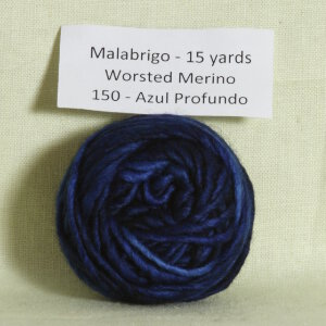 Malabrigo Worsted Merino Samples Yarn - 150 Azul Profundo