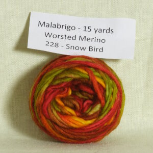 Malabrigo Worsted Merino Samples Yarn - 228 Snow Bird