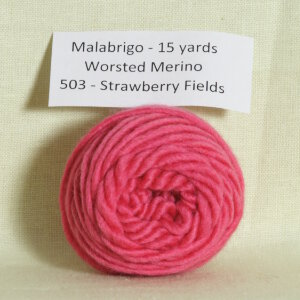 Malabrigo Worsted Merino Samples Yarn - 503 Strawberry Fields