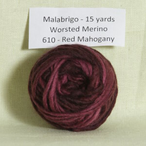 Malabrigo Worsted Merino Samples Yarn - 610 Red Mahogany