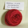 Malabrigo Worsted Merino Samples - 611 Ravelry Red