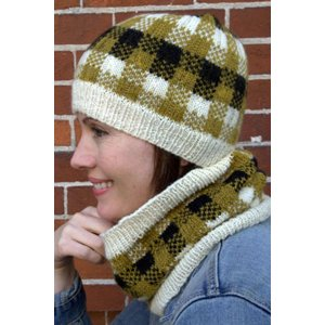 Plymouth Women's Accessory Patterns - 2801 Plaid Hat & Cowl Pattern