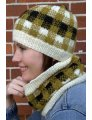 Plymouth Women's Accessory Patterns - 2801 Plaid Hat & Cowl