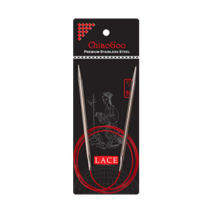 "ChiaoGoo RED Lace Circular Needles - US 15 (10.0mm) - 40"" Needles"