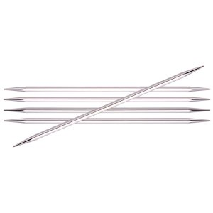 "Knitter's Pride Nova Cubics Platina Double Point Needles - US 7 (4.5mm) - 6"" Needles"