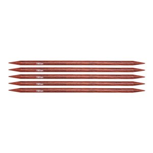 "Knitter's Pride Dreamz Double Point Needles - US 10.75 - 8"" (7.0mm) Burgundy Rose Needles"